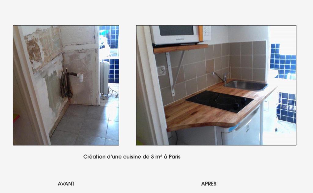 renovation cuisineb Paris